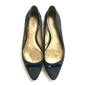Kate Spade Denim Pointed Toe Ballet Flat Sz 9